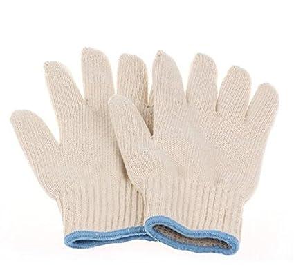 Qingsun 1 par guantes anti calor de algodón resistente barbacoa mitones de agarradores Perfct para cocer