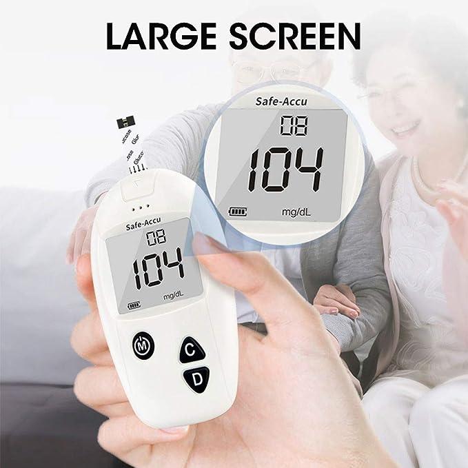 Glucosa en sangre kit de Safe Accu control de la diabetes kit de prueba de azúcar en sangre kit Codefree Pack 50 tiras para diabéticos-en mg/dL: Amazon.es: Salud y cuidado personal