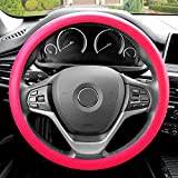 FH GROUP FH3001 Snake Pattern Silicone Steering Wheel Cover, Magenta Color-Fit Most Car, Truck, Suv, or Van