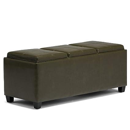 Fine Amazon Com Olive Green Ottoman Storage Bench Organizer Short Links Chair Design For Home Short Linksinfo