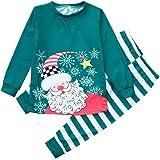 Navidad de BaZhaHei, Traje Padre-Hijo de Padre Mamá niños Navidad Tops Blusa Pantalones Pijamas la Familia Conjunto de…