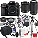 Nikon D7500 DX-format Digital SLR w/AF-P DX NIKKOR 18-55mm f/3.5-5.6G VR Lens, AF-P DX NIKKOR 70-300mm f/4.5-6.3G ED + 3pc Filter Kit + Professional Accessory Bundle