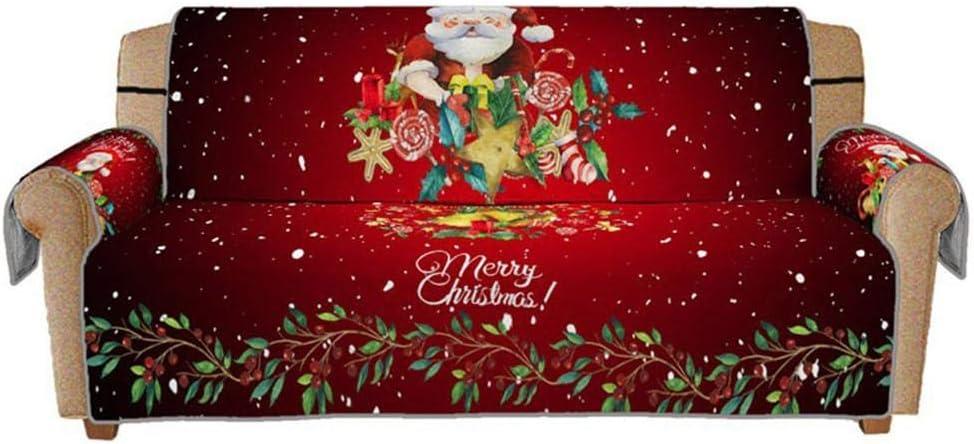 Stampato in 3D Modello Babbo Natale Copridivano Protettiva Copridivano Antipolvere Lavabile in Lavatrice Fodera per Divano di Natale per 1//2//3 posti
