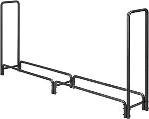 DOEWORKS 5 Feet Medium Heavy Duty Outdoor Firewood Racks Steel Wood Storage Log Rack Holder