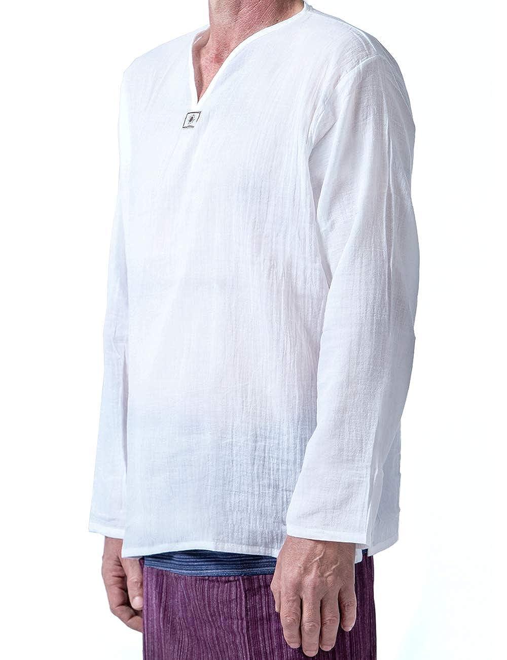 9f741074 Mens White Cotton Gauze Shirt - raveitsafe