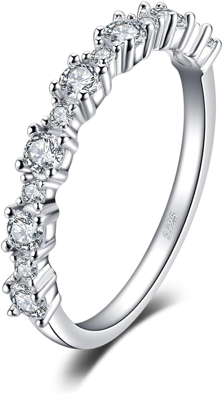 JewelryPalace Anillo de Zirconia cúbica de las mujeres Plata de ley 925