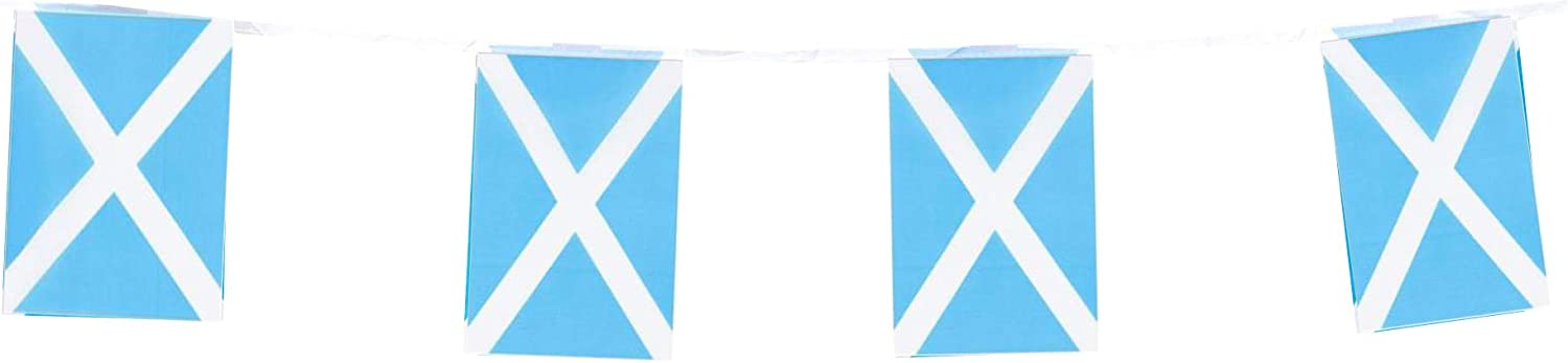Scotland Flags Scottish Small String Flag Banner Mini National Country World Flags Pennant Banners For Party Events Classroom Garden Olympics Festival Grand Opening Bar Sports Celebration Decorations