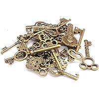 Ogquaton Paquete mixto de 40 llaves vintage, llaves