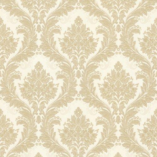 (Mirage 993-59451 Mercutio Damask Wallpaper, Gold )