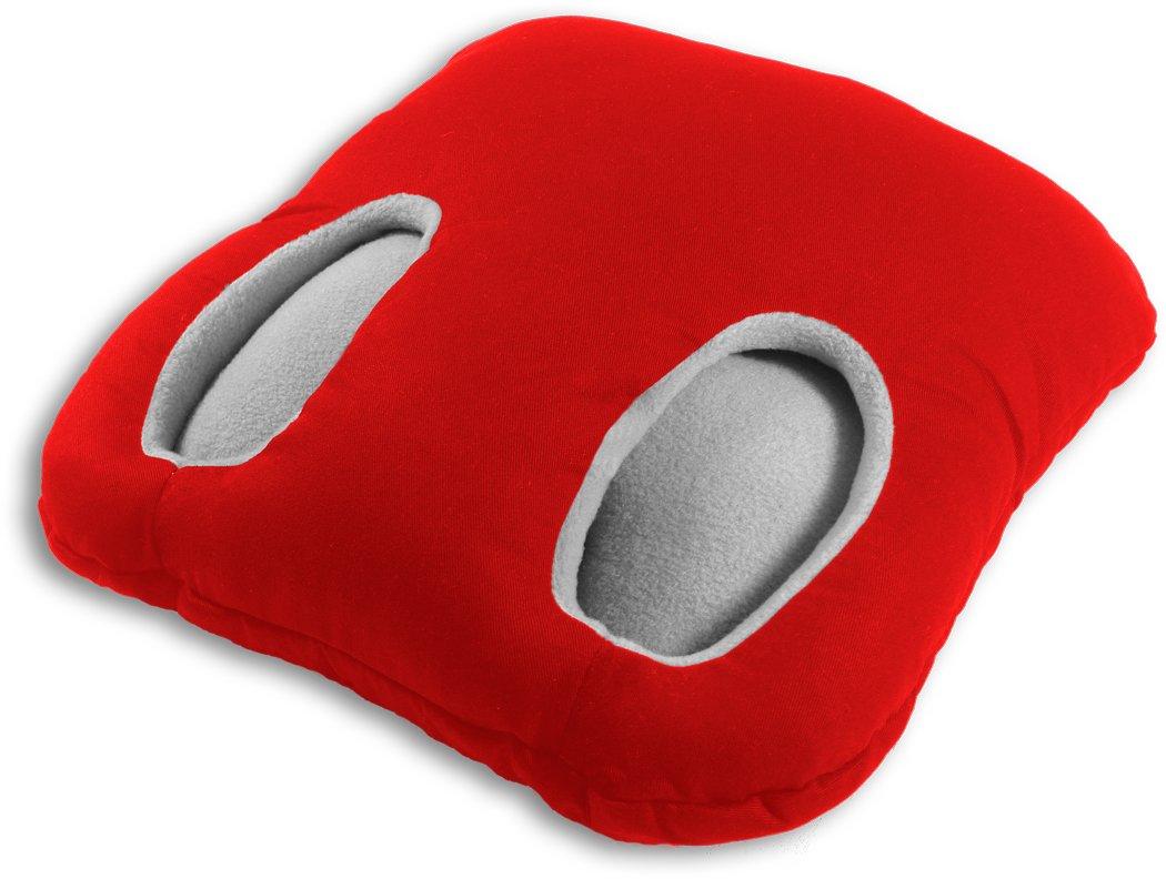 Square tient les pieds au chaud   36855 Chauffe-pieds Leschi Couleur : Rouge /à pois // Brume