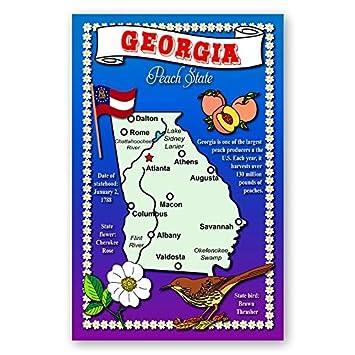 Amazoncom GEORGIA STATE MAP Postcard Set Of Identical - State of georgia map
