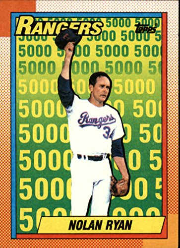 Topps Nolan Ryan Card - 1990 Topps #5 Nolan Ryan UER Rangers