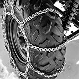 Titan Attachments ATV Tire Chains 10 VBAR Snow Ice Mud Off Road for 23''x10'' - 26''x11'' Tires 56x17