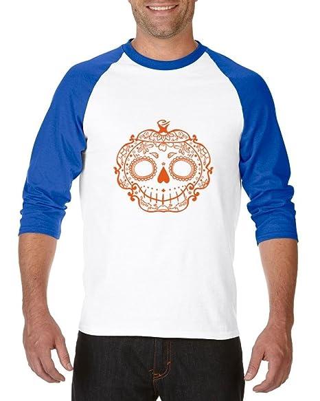 d431618029f06 Blue Tees Pumpkin Day Of Dead Lace Fashion People Best Friend Gift  Halloween Gifts Unisex Raglan