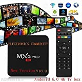 [New Version] Kodi 17.3 Krypton MXQ Pro TV BOX UHD 4K Android 6.0/64Bit/Amlogic S905X Quad Core