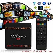[New Version] Kodi 17.3 Krypton MXQ Pro TV BOX UHD 4K Android 6.0/64Bit/Amlogic S905X Quad Core