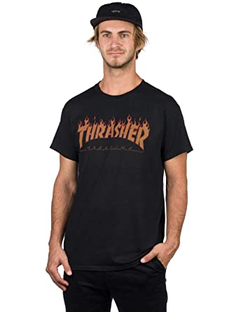 cfc445be61f4 Amazon.com  Thrasher Flame Halftone T-Shirt  Clothing