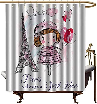Cortinas de Ducha para baño Extra Anchas, decoración de París ...