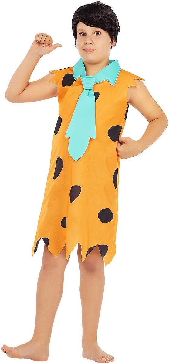 Funidelia | Disfraz de Pedro Picapiedra - Los Picapiedra Oficial para niño Talla 5-6 años ▶ The Flintstones, Dibujos Animados, Los Picapiedra, Cavernícolas