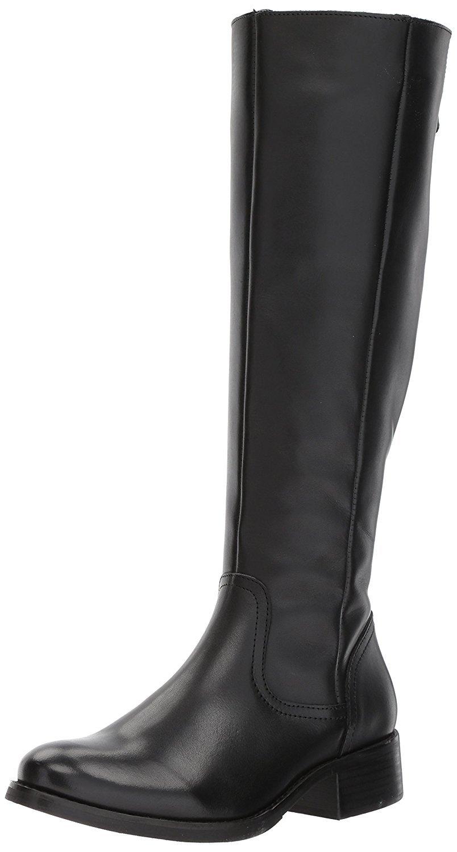 Steve Madden Women's Lover Western Boot, Black Leather, 6 M US