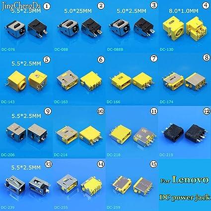 Cable Length: NO1 ShineBear JCD DC Power Jack Connector for Lenovo G400 G490 G500 G505 Z501 Y450 Y460 T40 T41 G480 G480A V370 V360 U165 DC Jack
