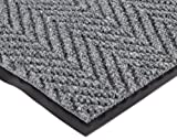 NoTrax 118 Arrow Trax Entrance Mat, for Main Entranceways and Heavy Traffic Areas, 4' Width x 8' Length x 3/8'' Thickness, Gray