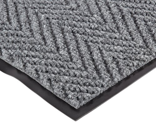 NoTrax 118 Arrow Trax Entrance Mat, for Main Entranceways and Heavy Traffic Areas, 4' Width x 8' Length x 3/8'' Thickness, Gray by NoTrax