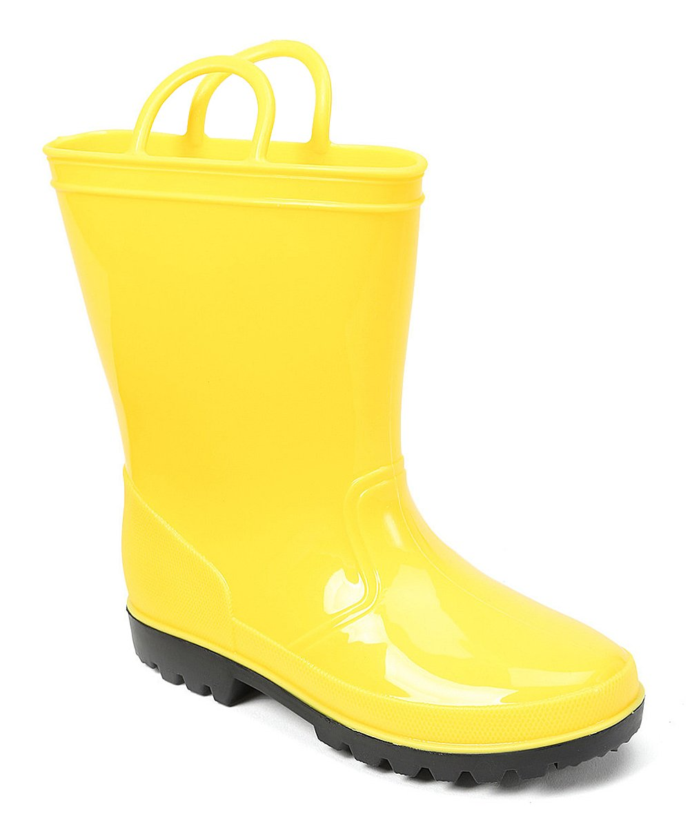 SkaDoo Yellow Kids Rain Boots 7 M US Toddler