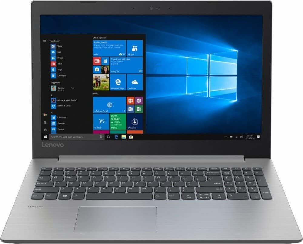 "Lenovo Ideapad 15.6"" Pro Build Laptop Computer, Intel Celeron N4100 up to 2.4GHz, 4GB Memory, 500GB Hard Drive, DVD, WiFi, Bluetooth, Windows 10, Gray"