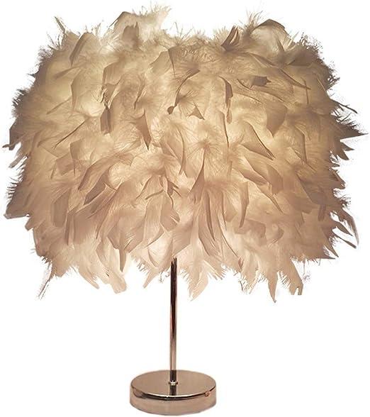 STARAYS Lámparas de Mesa de Plumas Vintage, lámpara de luz de ...