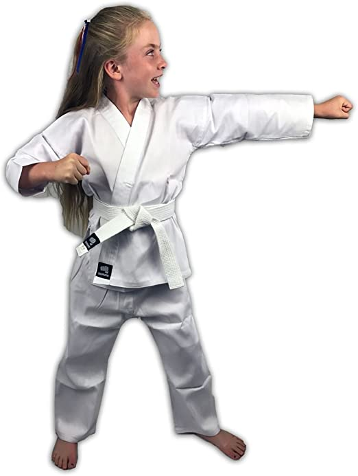Zephyr Martial Arts Karate Gi Student Uniform White Belt