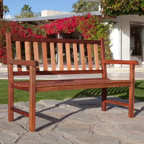 Table Leg Richmond - Belham Living Richmond Straight-Back 4-ft. Outdoor Wood Bench