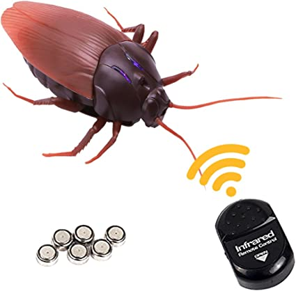 Novel RC Remote Control Moving Insects Bugs Trick Prank Jokes Gag Halloween Toys