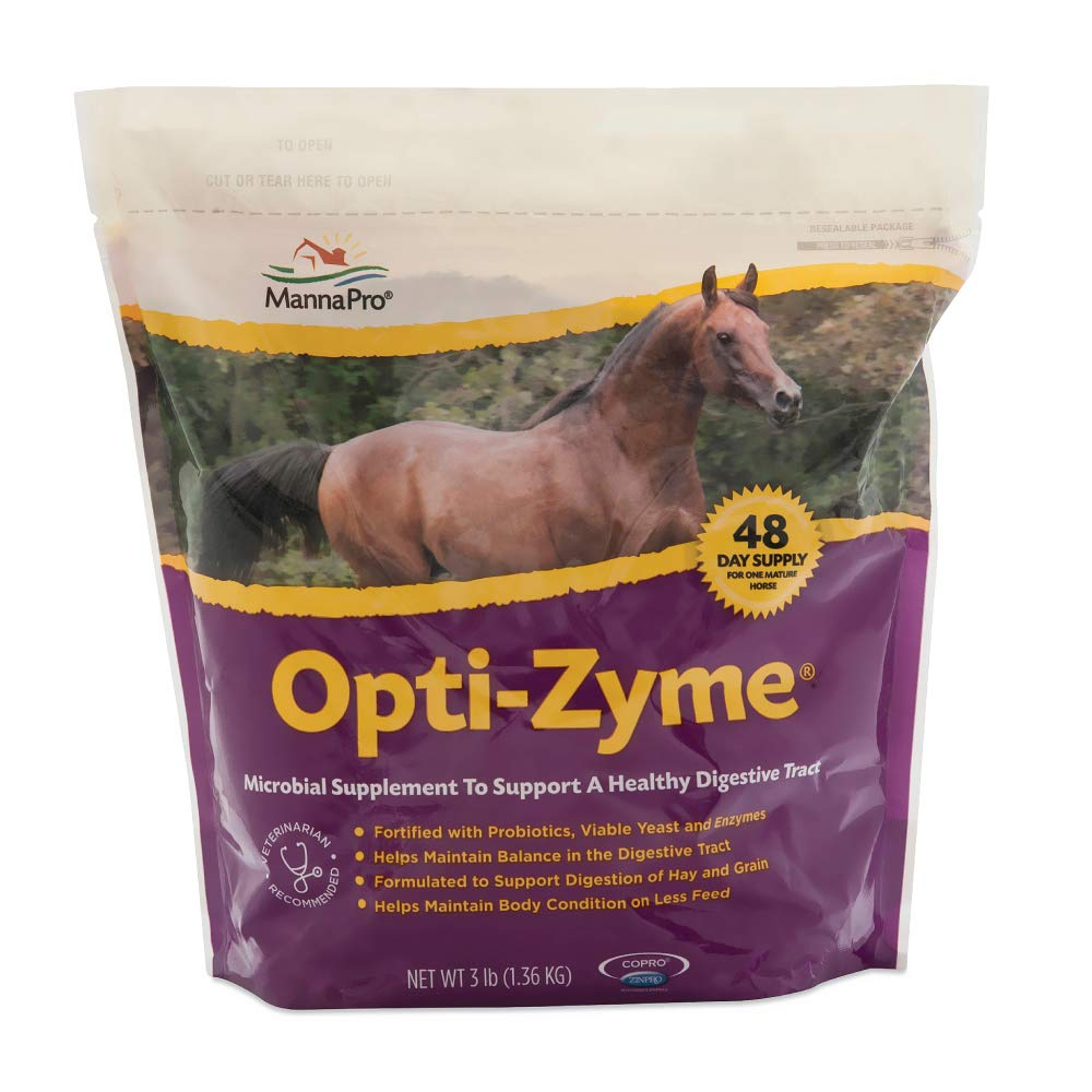 Manna Pro Opti-Zyme Microbial Digestive Supplement for Horse, 3-Pound by Manna Pro