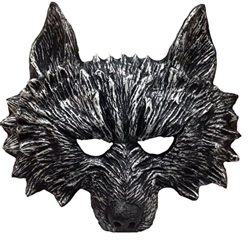 [Himine Halloween Gray Wolf's Head Mask] (Wolf Halloween Costumes)