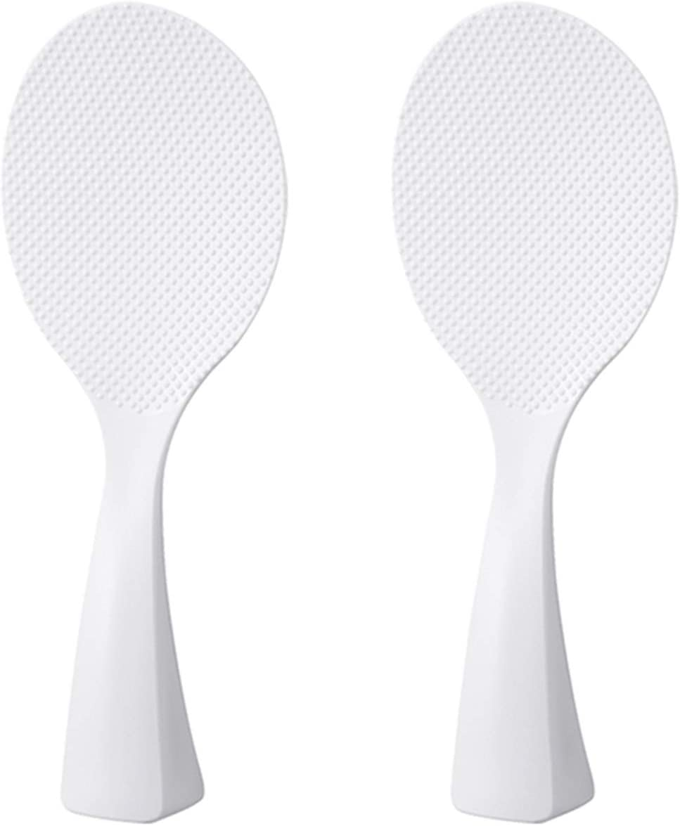 FireKylin 2 Pcs Rice Paddle, Non-Stick Rice Spoon, Stand-up Serving Rice Spatula(White)