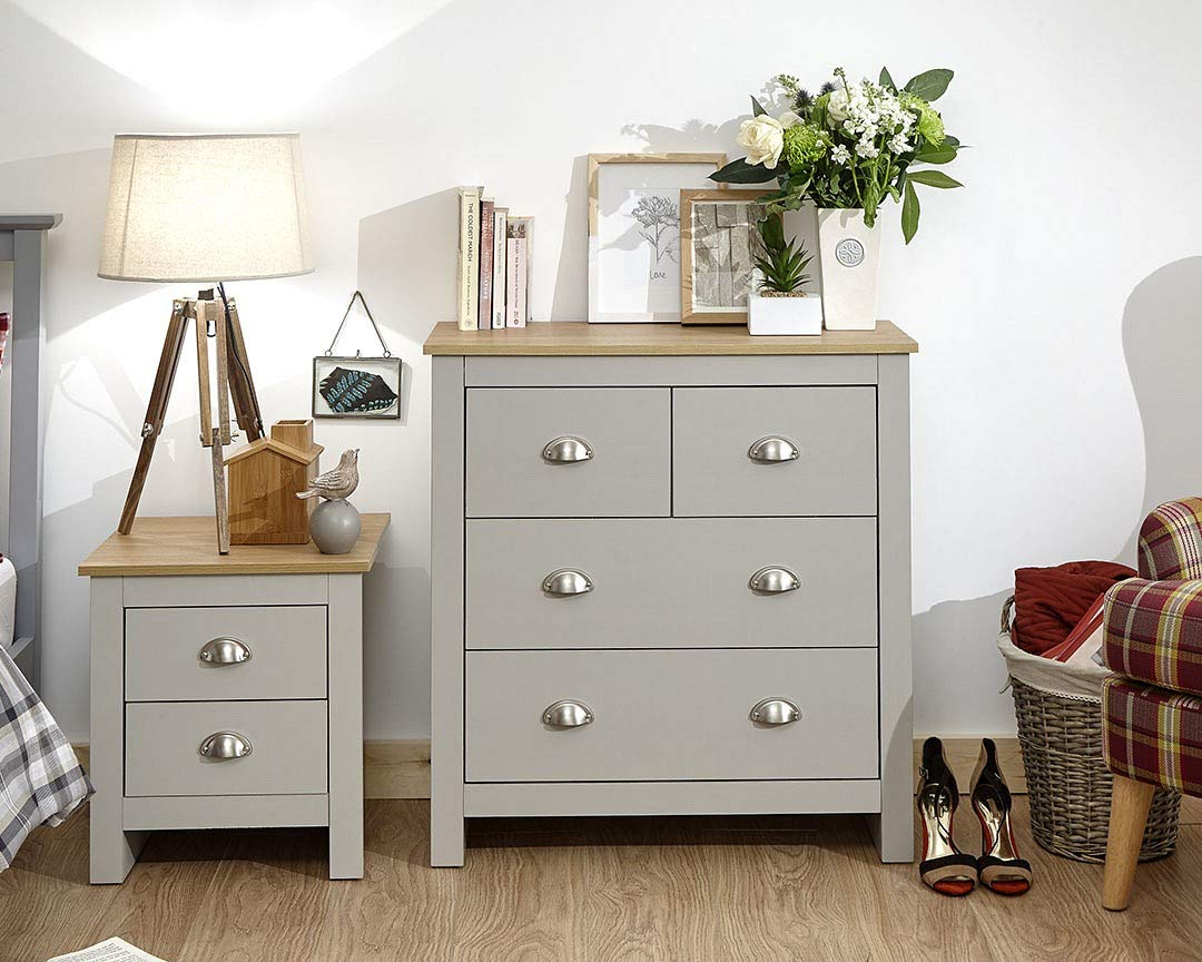 Xpress Delivery Lancaster 2 + 2 Drawer Chest In Grey