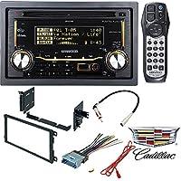 Kenwood Double DIN CD Bluetooth SiriusXM Car Stereo (Replaced DPX502BT) CAR RADIO CD PLAYER DASH INSTALL MOUNTING KIT HARNESS BUICK CADILLAC CHEVROLET GMC HUMMER ISUZU OLDSMOBILE PONTIAC 2000 - 2009