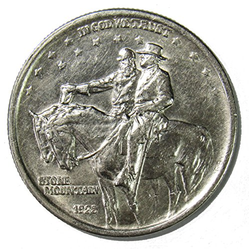 1925 Stone Mountain Silver Commemorative Half Dollar 50 About Uncirculated