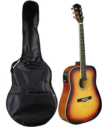 Navarra NV32 - Guitarra acústica eléctrica con bolsa, sunburst ...