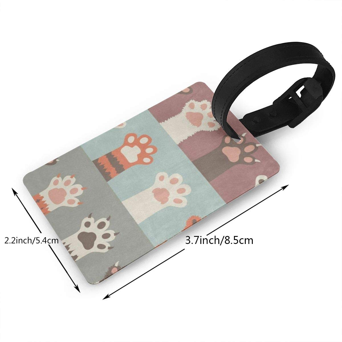 Luggage Tags Vintage Balloon Blue Sky Bag Tag for Travel 2 PCS