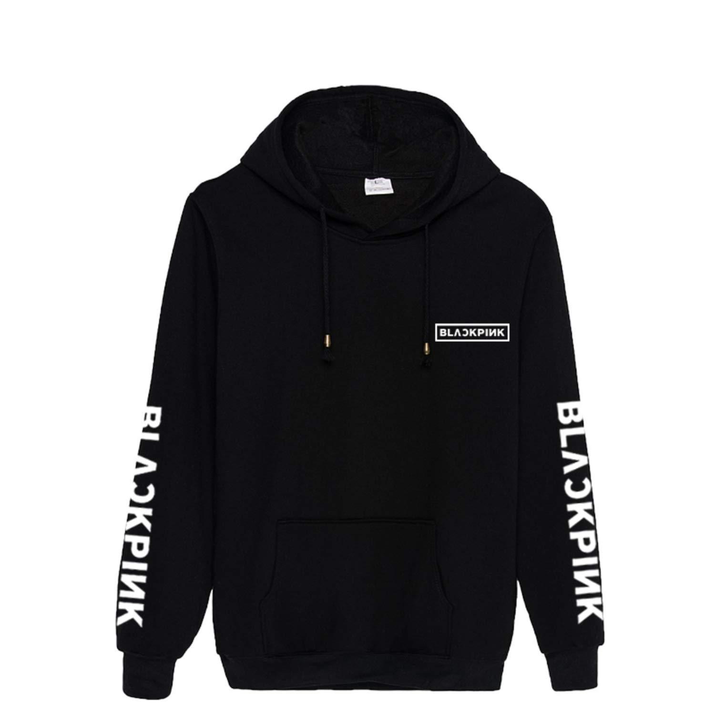 Kpop Blackpink Hoodie Jennie Lisa Rose Pocket Sweater Jacket Pullover