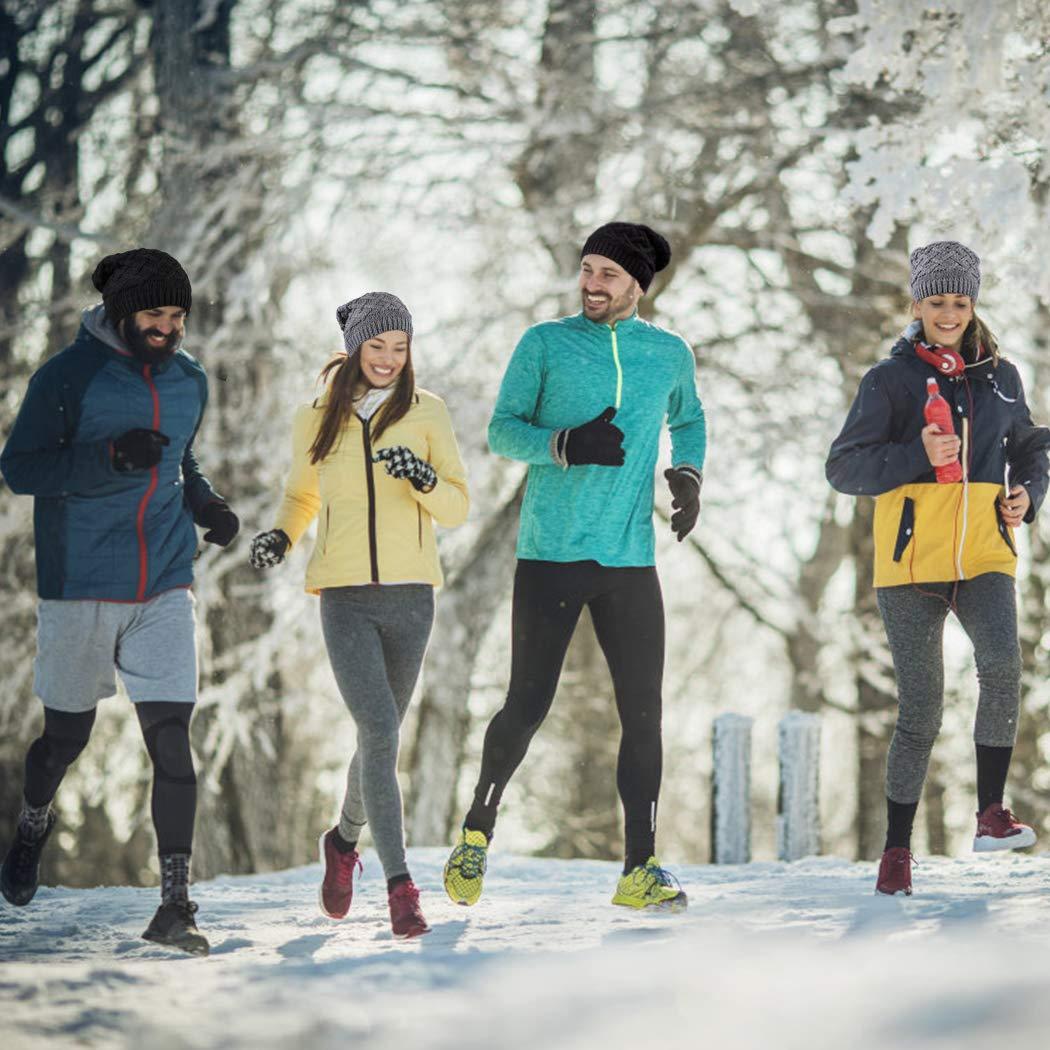 Tusscle Bonnet dhiver Chapeau Unisexe Bonnet Tricot/é de Ski Slouch Chaud Beanie de Cr/âne pour Plein Air et Quotidien et Femme Homme
