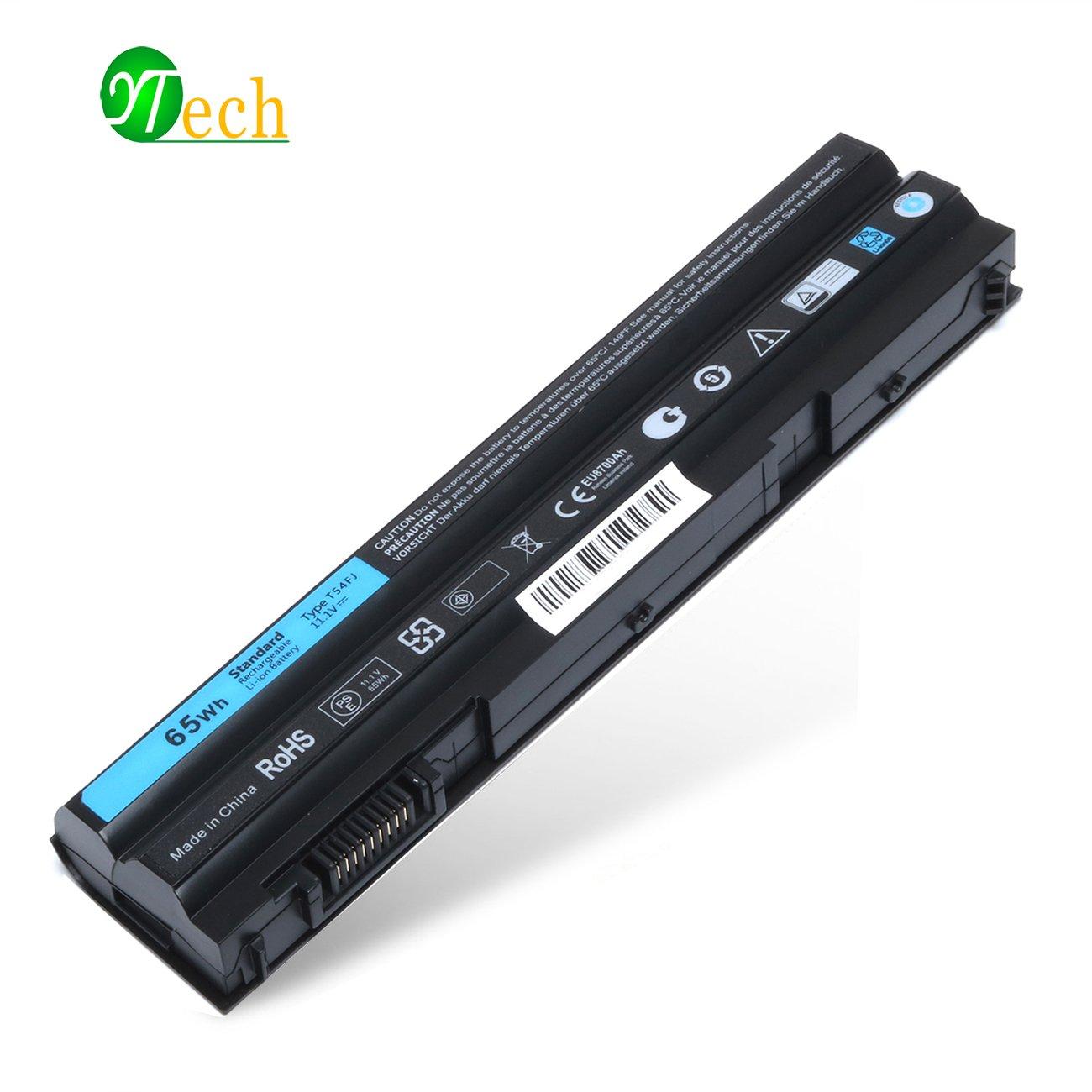 YTech T54FJ Laptop Battery For Dell Latitude E5420 E5430 E5520 E5530 E6420 E6430 E6520 E6530 Compatible P/N:312-1163 312-1242 T54F3 X 57F1 KJ321 M5Y0X HCJWT 7FJ92 NHXVW PRRRF-6-Cell/5200mAh