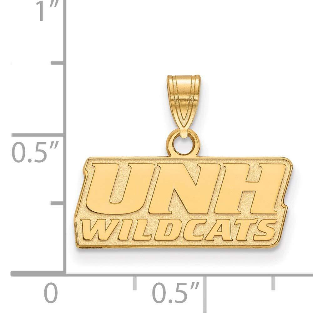 Lex /& Lu LogoArt 10k Yellow Gold University of New Hampshire Small Pendant LAL153501
