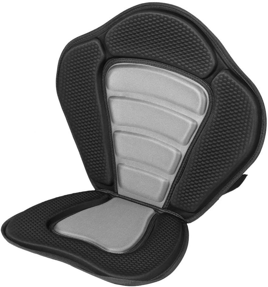 Deluxe Padded Kayak Seat+Detachable Back Bag Canoe Sit On Top Kayaking Seat Keenso Kayak Seat