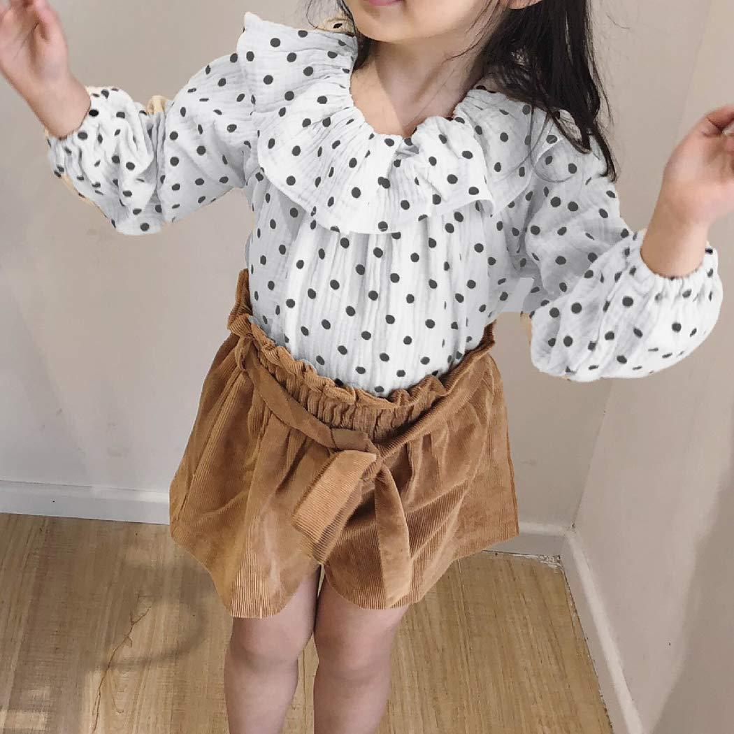 Colorful Childhood Infant Baby Girls Blouse Childrens Cotton Linen Blend Lotus Leaf Collar Shirts