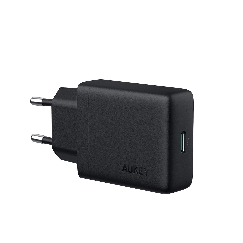 AUKEY USB C Caricabatterie da Muro con 27W