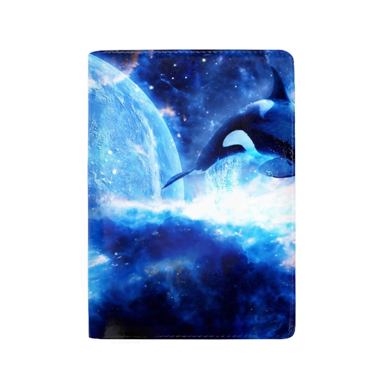 Little Diving Penguin Passport Holder Cover Wallet RFID Blocking Leather Card Case Travel Document Organizer