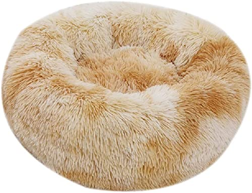 Vivi Bear Cat Bed Dog Bed Calming Dog Bed nest Extra Soft Comfortable Cute,Cat Cushion Bed Washable,Oval Donut Nesting Cave Bed Suitable for Cats and Small Medium Dogs
